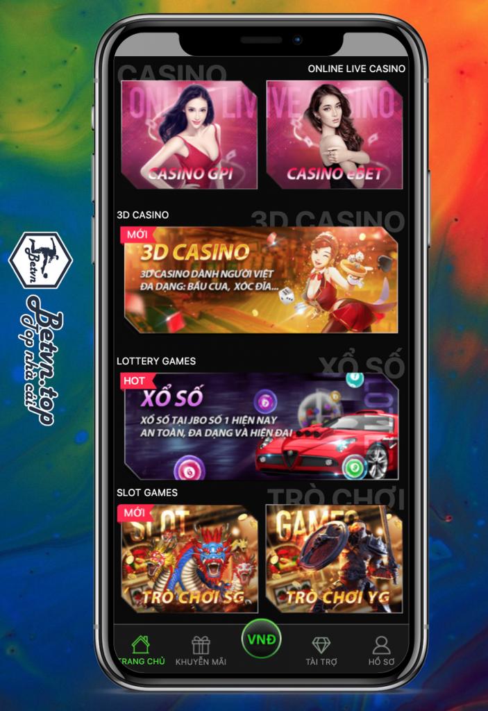 JBO cũng cấp 2 sảnh chơi là Casino GPI và Casino eBet